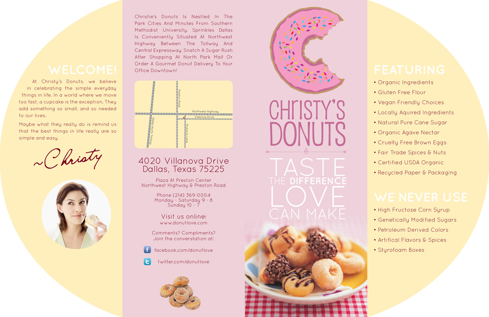 Christy's Donuts Brochure